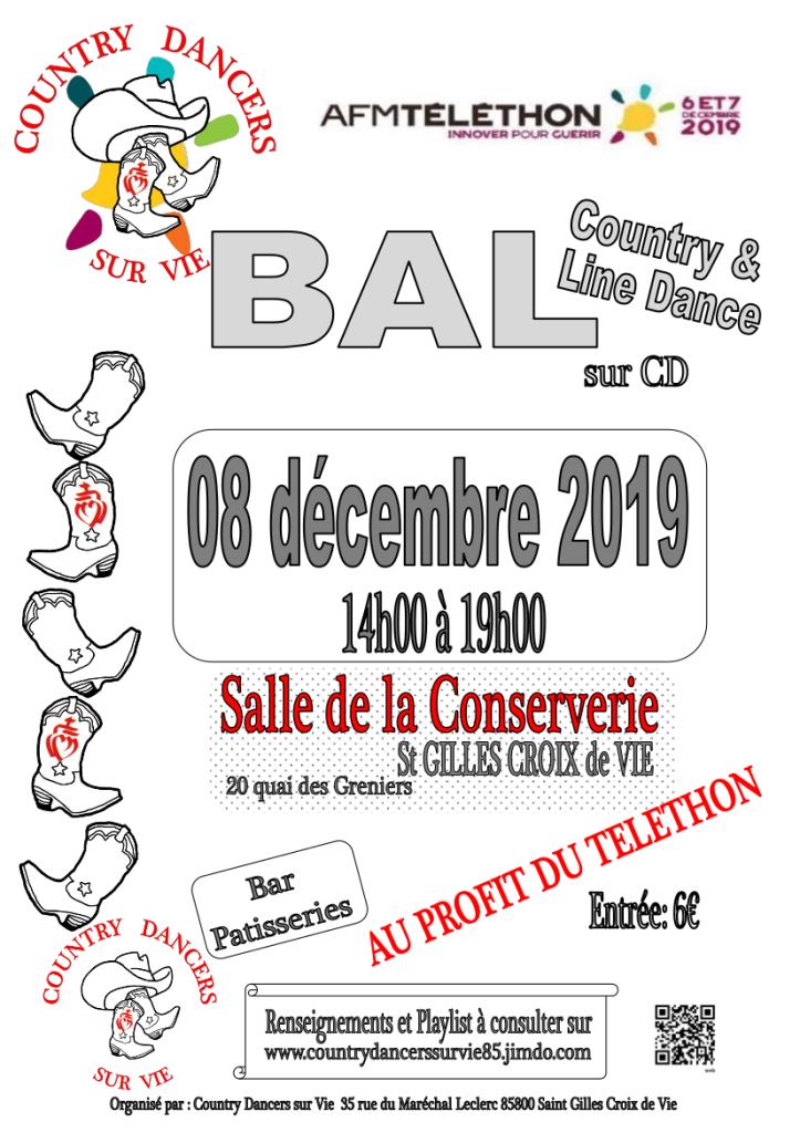 Affiche Bal Téléthon 081219