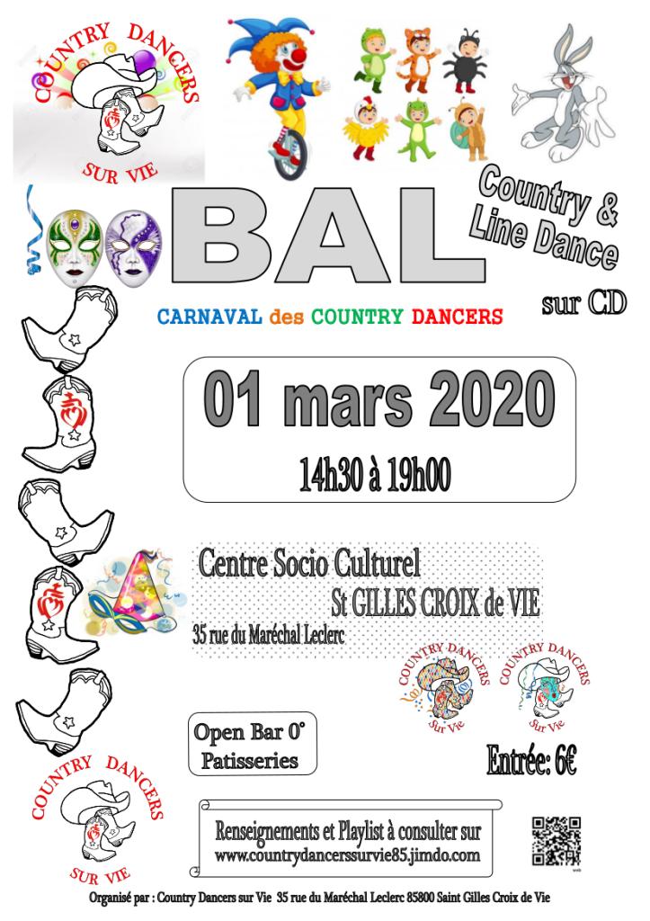 Affiche bal carnaval 010320