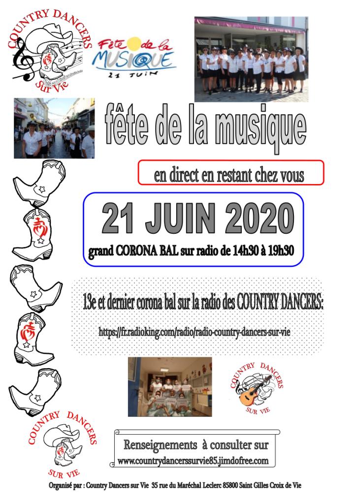 Affiche 13e corona bal fête musique 210620